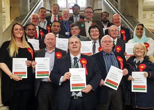 Labour's council candidates launch Labour's election manifesto at the Town Hall