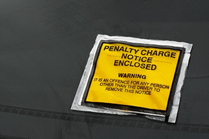 Parking ticket (stock photo)