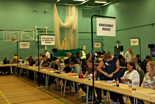 The counters start by verifying the postal votes