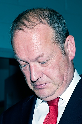 Simon Danczuk - for once not happy at having his photo taken!