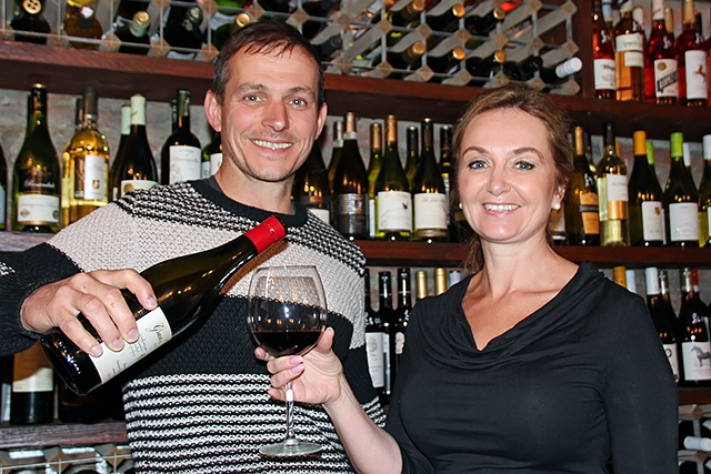 Owners of Vicolo del Vino, Michael and Sarah Howarth