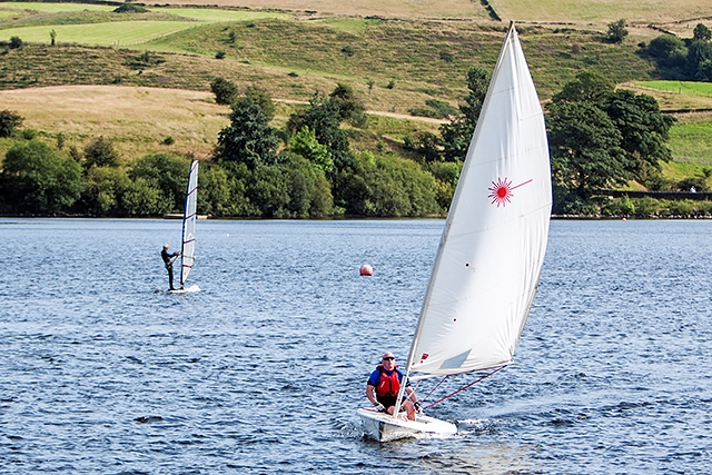 After recent quiet weekends, the Lake saw much sailing activity over two days