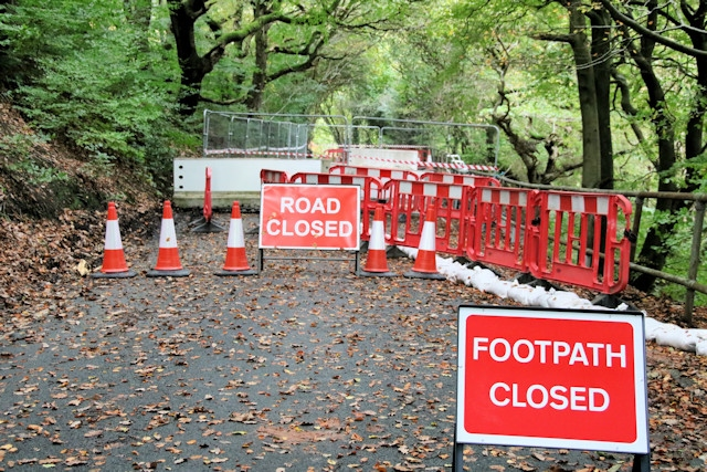 Ashworth Road and the footpath are closed for the foreseeable future