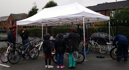 The Petrus Bike Kitchen pops up at Medina Masjid Mosque