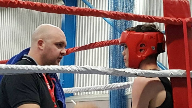 Littleborough Boxing: Corner coach Mark Oldham and Joe Vaughan