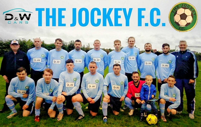 The Jockey in their new kit, sponsored by D&W Cars