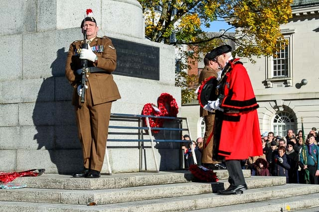 Rochdale Remembrance Sunday in 2017
