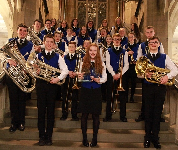 Rochdale Youth Band, soloist Ellie Warren (front centre)
