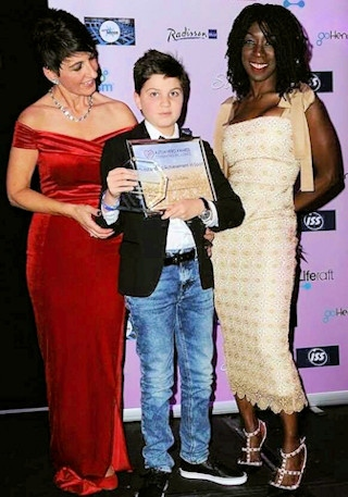 Sandro Ballesteros with Anna Kennedy and Heather Small