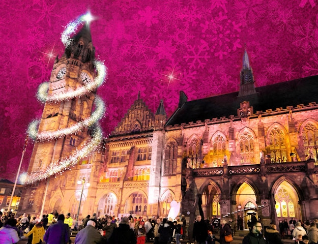 Rochdale Christmas Market, Lights-switch on and fireworks on Saturday, 25 November