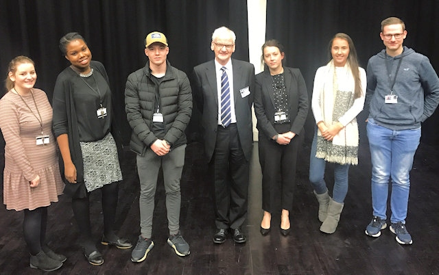 Rochdale Sixth Form College students meet The President of the Law Society, Joe Egan
