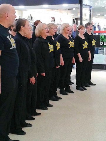Rock Choir at Middleton Shopping Centre