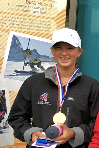 Daisi, 15, won the U16 age category and fastest female at the British Independent Indoor Ski Championships