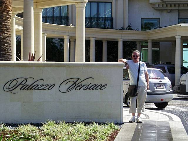 Keith Hobson at the Palazzo Versace on a visit to family in  Australia