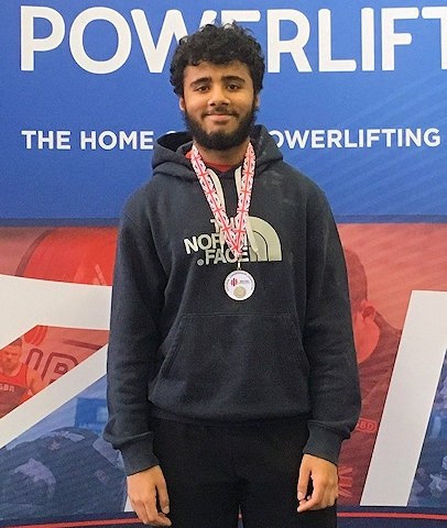 Shariq Haidery at the 2017 British Junior Powerlifting Competition