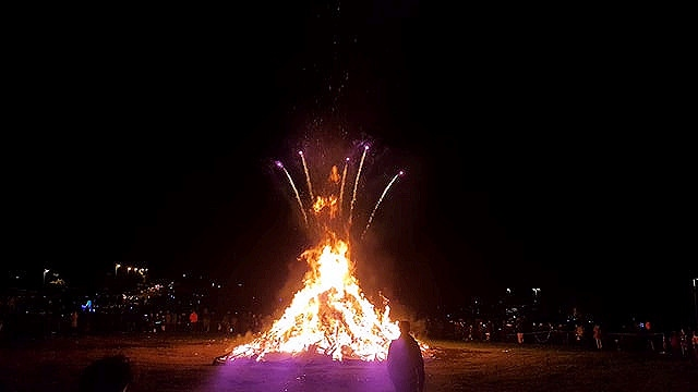 The annual council-organised bonfire and firework display at Cronkeyshaw Common