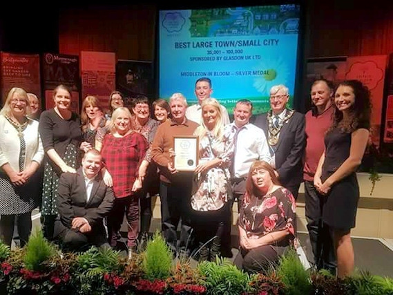 Middleton was awarded a silver medal for their first entry into the In Bloom competition