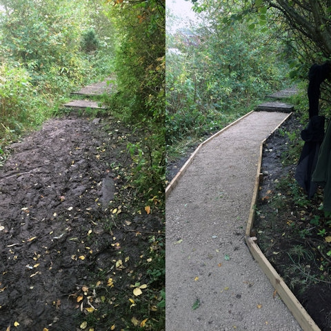 Footpath improved