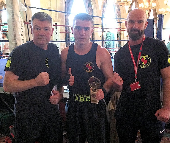 Steven Connellan, Neacsu Nicusor, Frank Maddocks from Hamer Amateur Boxing Club