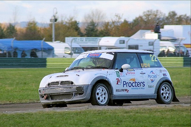 Brown in action with Bellerby RX Racing Team MINI