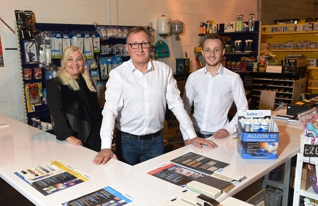 Erica, Steve and Chris Hudspith show off their new business