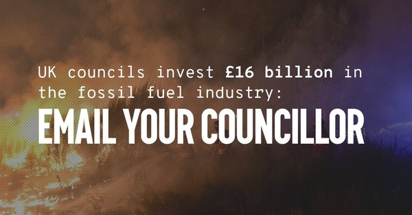 Email our Councillors & ask them to divest from fossil fuel industry