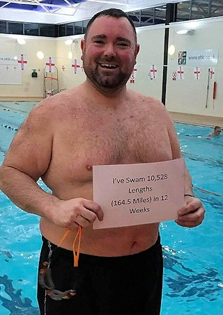 Scott Teirney has swum 10,528 lengths in 12 weeks for the Save Samantha appeal