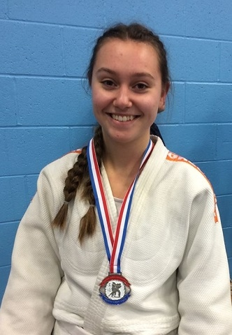 Noa Docherty with another one of her medals she picked up at Blackburn College early this year