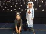 Heap Bridge Christmas play – The Midwife and Steve the donkey