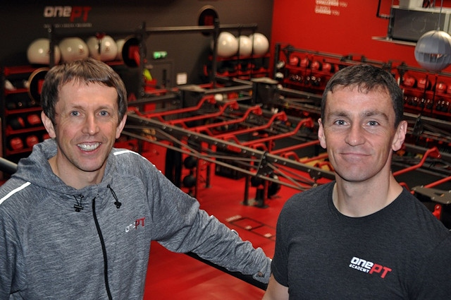 Neil Fell and Phill Wright at the Rochdale gym