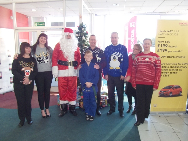 Little monkeys and Rochdale Judo Club representatives at Swansway Honda
