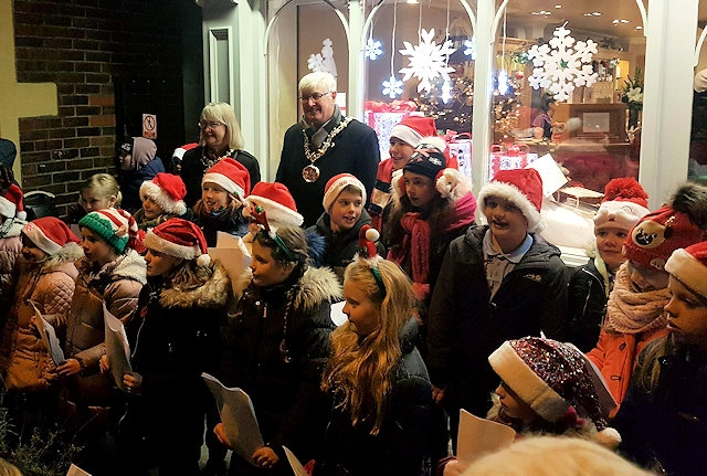 Norden Christmas lights switch on
