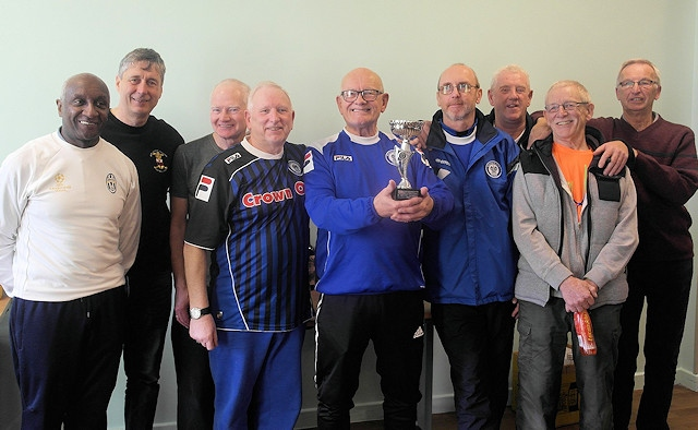 Rochdale AFC's Walking Football team, Rochdale Strollers, David Brooks fourth from right