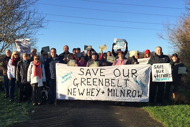 Milnrow and Newhey 'Save our Greenbelt' campaigners