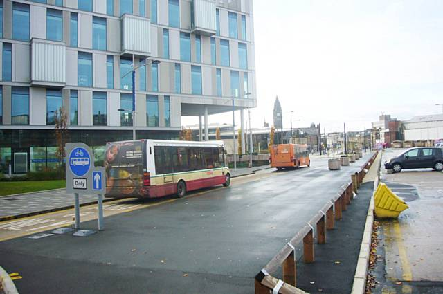 Smith Street two buses using Smith Street Sunday morning