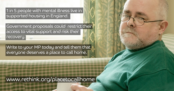 Please support Rethink Mental Illness's campaign a 'Place to Call Home'
