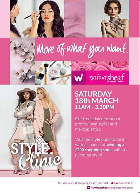 Style for the new season with The Wheatsheaf on Saturday 18 March, between 11.00am and 3.30pm