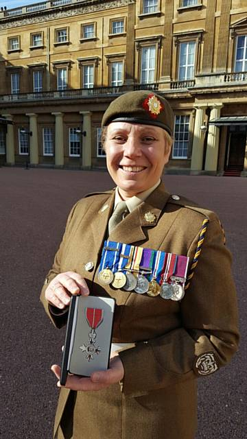 Warrant Officer Class 2 Lorraine Anderson awarded the MBE