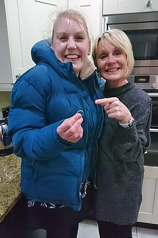 Keally George reunited with wedding ring by family friend Ann Bowker