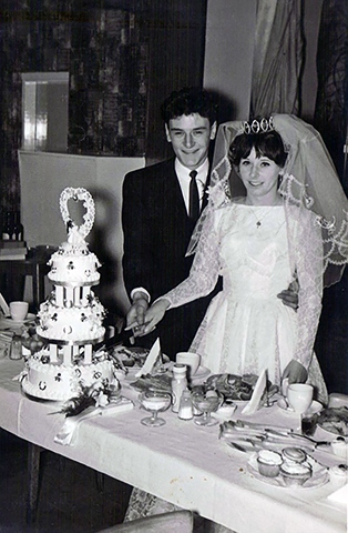 Barbara and John on their wedding day