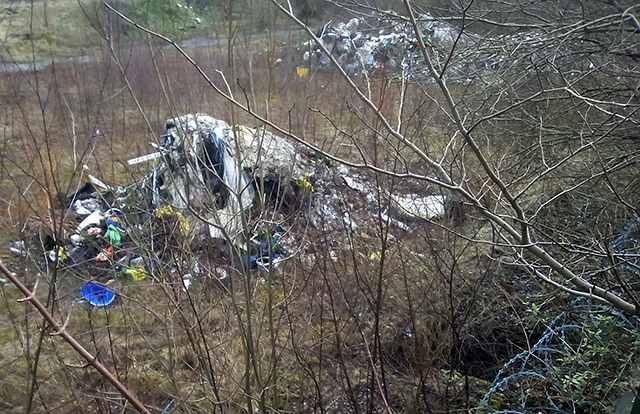 Illegally dumped waste at the former Turner Brothers Asbestos site