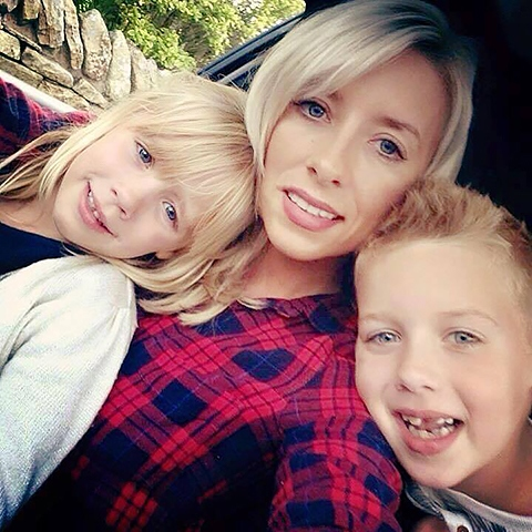 Samantha Smith with her children