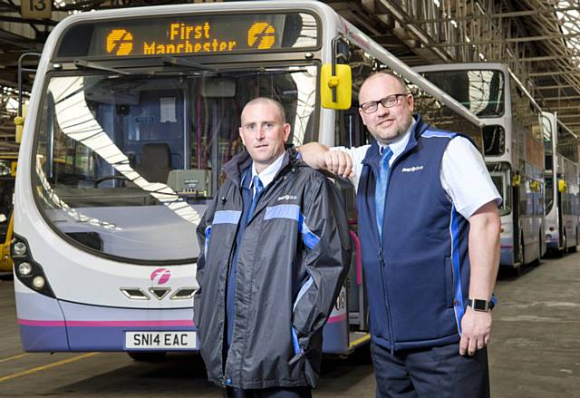rochdale news news headlines first bus drivers shift. Black Bedroom Furniture Sets. Home Design Ideas