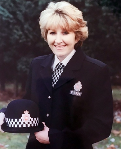 Margaret Oliver when she was a serving officer with Greater Manchester Police