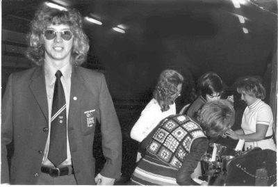 Clive Rushton in his GBR blazer as swimming captain at the Munich Olympic Games in 1972