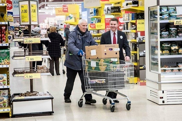 Tesco works with FareShare to donate surplus food from its stores to those in need