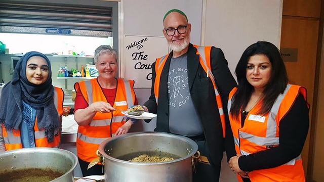 Volunteers at Rochdale soup kitchen
