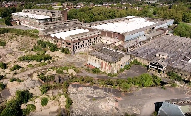 The former Turner Brothers Asbestos factory in Spodden Valley