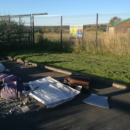 Fly-tipped waste blights Milnrow