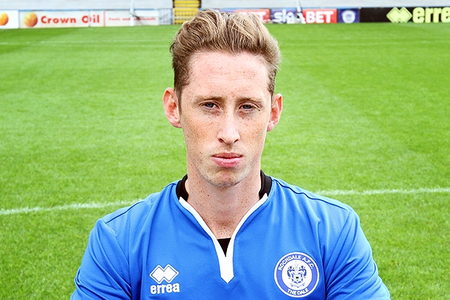 Joe Bunney, pictured during his time at Rochdale AFC
